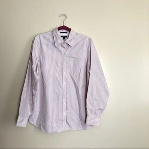 Lands' End No Iron Pinpoint Oxford Pin Stripe Top